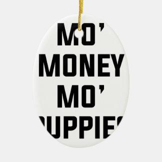 Ornamento De Cerâmica Filhotes de cachorro do Mo do dinheiro do Mo