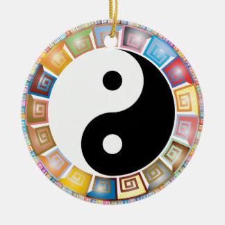 Ornamento De Cerâmica filosofia asiática oriental de yang do yin