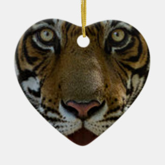 Ornamento De Cerâmica Fim da cara do tigre acima