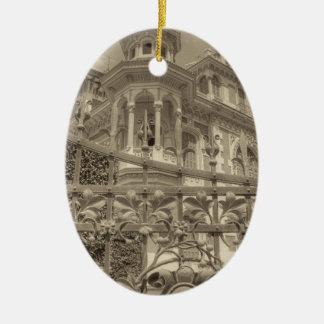 Ornamento De Cerâmica Final da casa de campo de Chamas