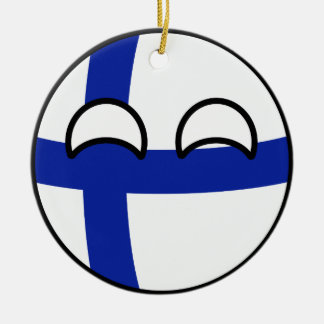 Ornamento De Cerâmica Finlandia Geeky de tensão engraçado Countryball