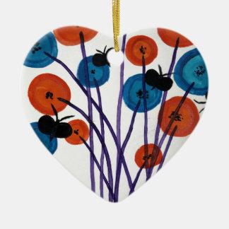 Ornamento De Cerâmica Fiore pulsante engodo le farfalle