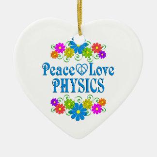 Ornamento De Cerâmica Física do amor da paz