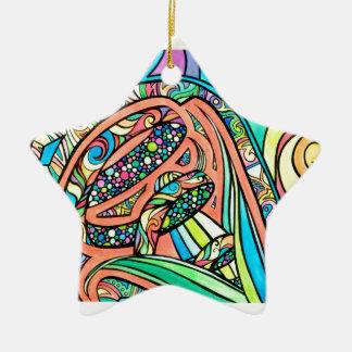 Ornamento De Cerâmica Fitas de florescência
