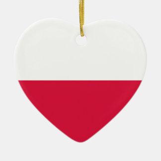 Ornamento De Cerâmica Flaga Polski - bandeira polonesa