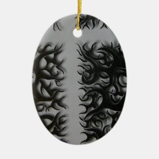 Ornamento De Cerâmica flame preto entrecruza