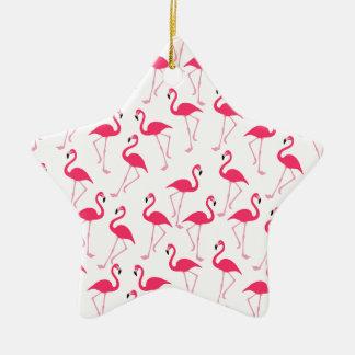 Ornamento De Cerâmica Flamingo