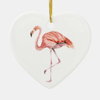 Ornamento De Cerâmica Flamingo cor-de-rosa