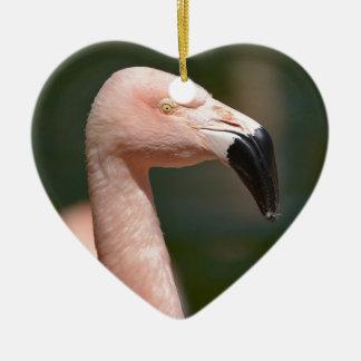 Ornamento De Cerâmica Flamingo do retrato