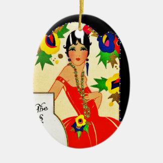Ornamento De Cerâmica Flapper que mantem a contagem