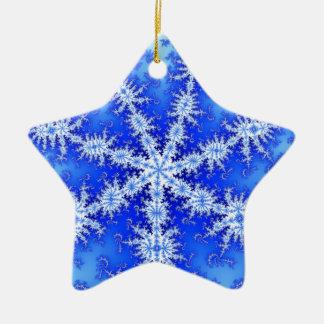 Ornamento De Cerâmica Floco da neve