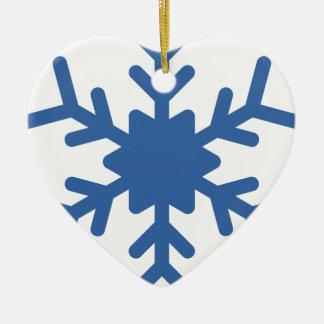 Ornamento De Cerâmica Floco de neve