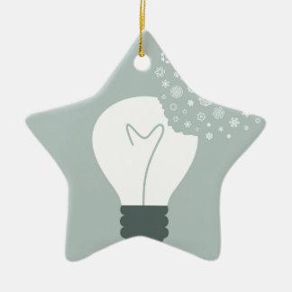 Ornamento De Cerâmica Floco de neve um bulb2
