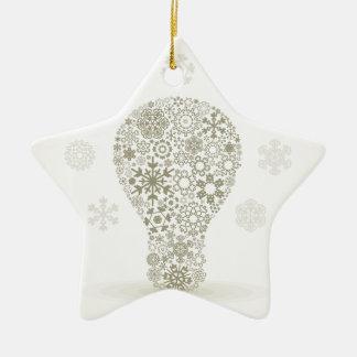 Ornamento De Cerâmica Floco de neve um bulbo