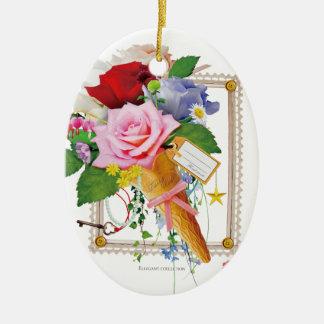 Ornamento De Cerâmica Flor