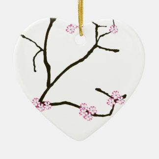 Ornamento De Cerâmica Flor 1 de Tony Fernandes Sakura