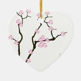 Ornamento De Cerâmica Flor 5 de Tony Fernandes Sakura
