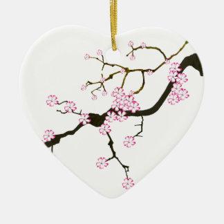 Ornamento De Cerâmica Flor 6 de Tony Fernandes Sakura