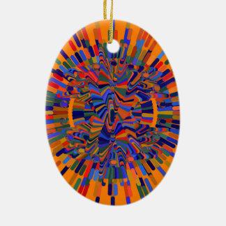 Ornamento De Cerâmica Flor abstrata