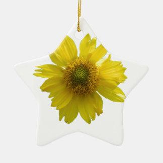 Ornamento De Cerâmica Flor amarela