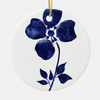 Ornamento De Cerâmica Flor azul