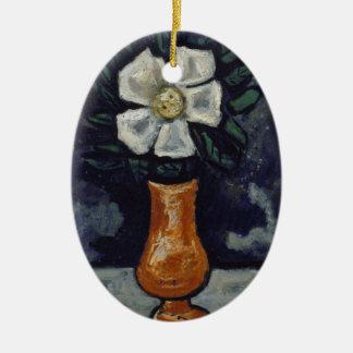 Ornamento De Cerâmica Flor branca - Marsden Hartley