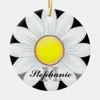 Ornamento De Cerâmica Flor clássica da margarida