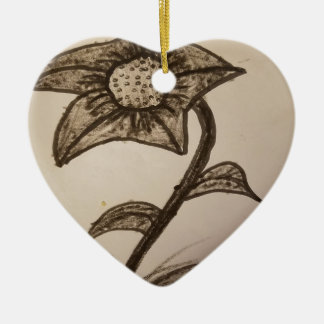 Ornamento De Cerâmica flor coberta #1.