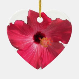 Ornamento De Cerâmica Flor cor-de-rosa 201711e do hibiscus