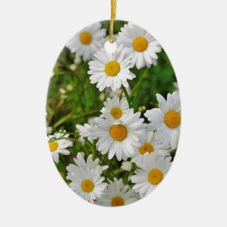 Ornamento De Cerâmica Flor da margarida branca