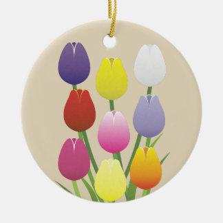 Ornamento De Cerâmica Flor da tulipa