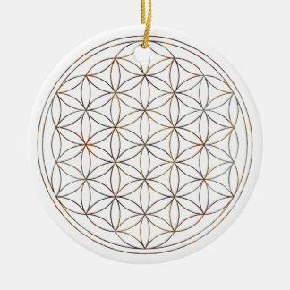 Ornamento De Cerâmica Flor da vida (V-Elementos)