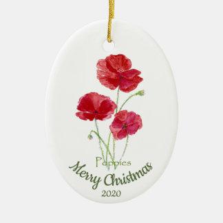 Ornamento De Cerâmica Flor datado feita sob encomenda da papoila da