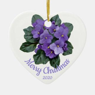 Ornamento De Cerâmica Flor datado feita sob encomenda da violeta