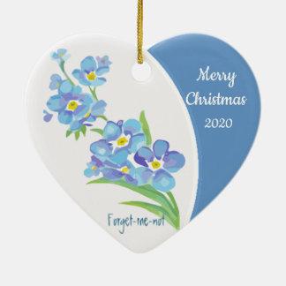 Ornamento De Cerâmica Flor datado feita sob encomenda do miosótis do