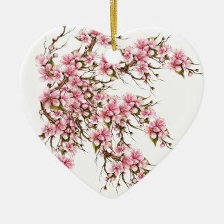 Ornamento De Cerâmica Flor de cerejeira