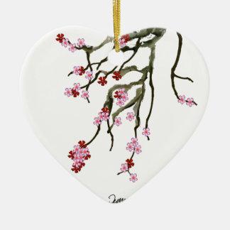 Ornamento De Cerâmica flor de cerejeira 12 Tony Fernandes