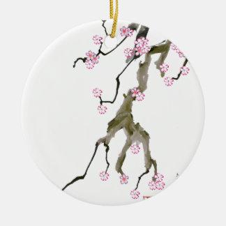 Ornamento De Cerâmica Flor de cerejeira 17 Tony Fernandes