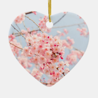 Ornamento De Cerâmica Flor de cerejeira cor-de-rosa