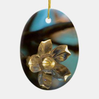 Ornamento De Cerâmica Flor de cerejeira iluminada