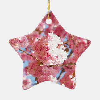 Ornamento De Cerâmica Flor de cerejeira japonesa cor-de-rosa