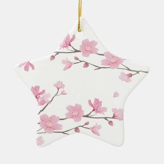 Ornamento De Cerâmica Flor de cerejeira - Transparente-Fundo