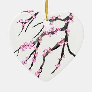 Ornamento De Cerâmica Flor de cerejeira vermelha 32, Tony Fernandes