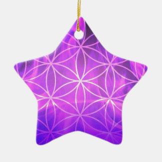Ornamento De Cerâmica Flor de chama violeta da vida