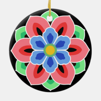 Ornamento De Cerâmica Flor de Dancheong do coreano