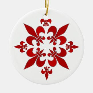 Ornamento De Cerâmica Flor de lis