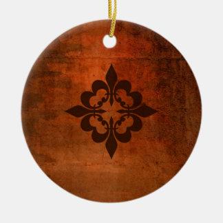 Ornamento De Cerâmica Flor de lis de Quatre