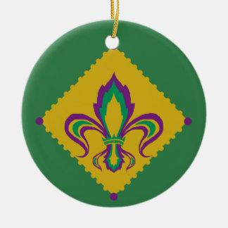 Ornamento De Cerâmica Flor de lis do carnaval