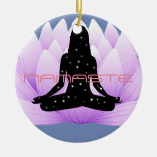 Ornamento De Cerâmica Flor de Namaste Lotus