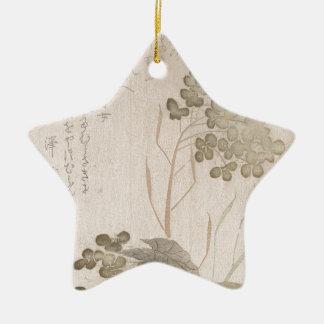 Ornamento De Cerâmica Flor de Natane - origem japonesa - período de Edo